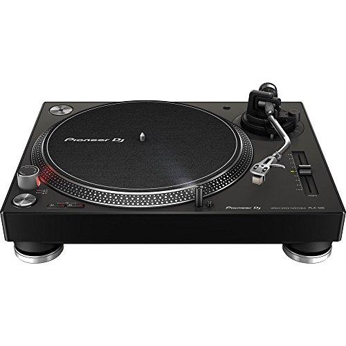 PIONEER DJ PLX-500 de alto par, la placa giratoria de accionamiento directo – Negro