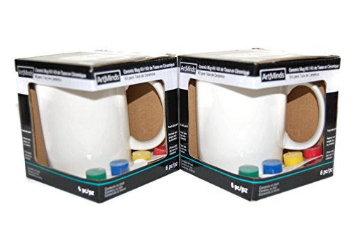 (ArtMinds Ceramic Mug Painting Kit (2 pack))