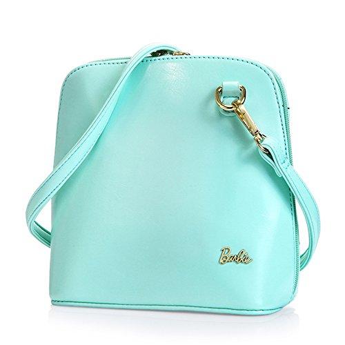 BarbieBBFB090 Bolsos Mujeres de Dulce Casual de simple Moderno Azul