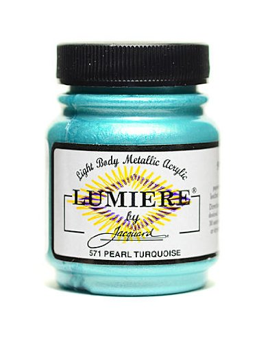 Jacquard Lumiere Artist Acrylics pearl turquoise [PACK OF 3 ] (Lumiere Jacquard Paints Pearl)