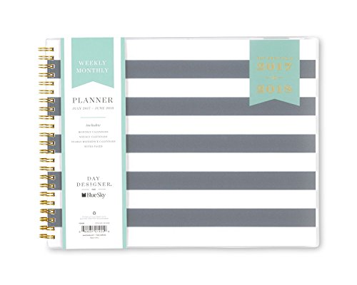"[Day Designer ""Black Stripe"" 10 x 8 Weekly/Monthly Planner] (10 Weekly)"