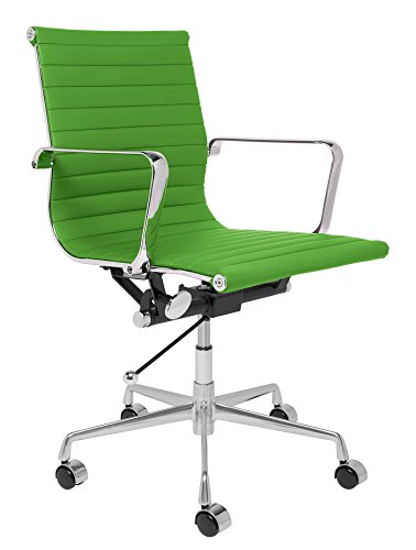 Laura Davidson Furniture SOHO Ribbed Management Office Chair (Aluminum Group Chair)