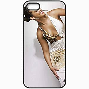 Personalized iPhone 5 5S Cell phone Case/Cover Skin Alicia Keys Girl Dress Smile Teeth Black