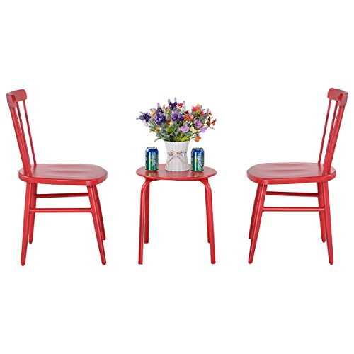 BESTChoiceForYou 3 pcs Bistro Steel Table and Chair Beautiful and decorate your room and patio by BESTChoiceForYou