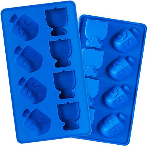 Hanukkah Silicone Ice Cube Mold Tray - Dreidel and Menorah...