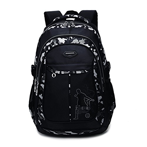 Abshoo Cool Boys School Backpacks For Middle School Student Backpack Elementary Bookbag (Black Grey)