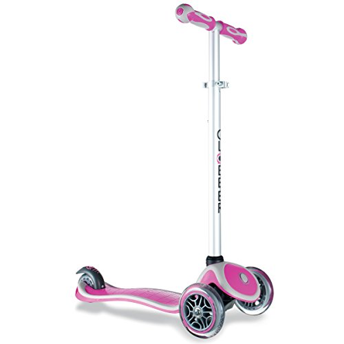 Globber Primo 3 Wheel Adjustable Height Scooter (Pink/Gray) (3 Wheel Scooters For Kids)