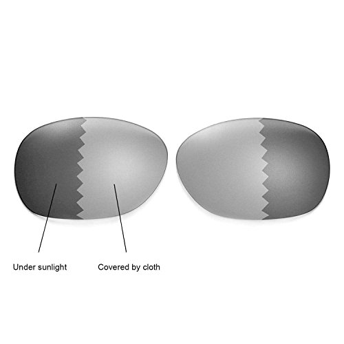 Walleva Replacement Lenses for Ray-Ban Wayfarer 2132 55mm - Myltiple Options Available(Transition/photochromic - ()