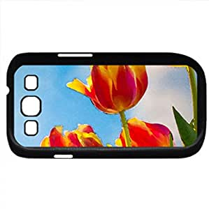 Tulips (Flowers Series) Watercolor style - Case Cover For Samsung Galaxy S3 i9300 (Black)