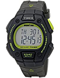 Men's T5K824 Ironman Classic 30 Full-Size Gray/Black/Green Resin Strap Watch