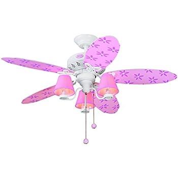 Hunter 23781 44-Inch Dreamland 5-Blade 3-Light Ceiling Fan, White ...