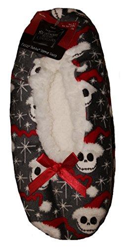 Nightmare Before Christmas Jack Skellington Fuzzy Babba Slipper Socks - S/M
