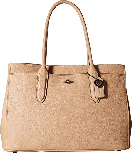 (COACH Women's Bailey Carryall in Crossgrain Leather Dk/Beechwood One Size )