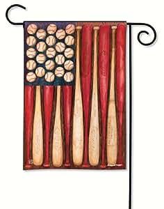 BreezeArt Baseball Season Garden Flag 31505