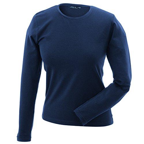 JAMES & NICHOLSON - Camiseta - Básico - Manga Larga - para mujer azul marino
