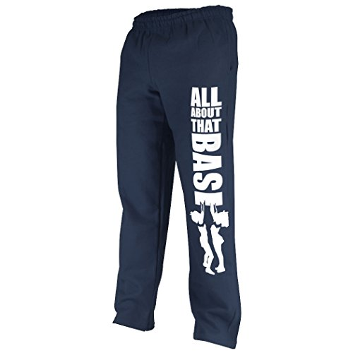 Cheer All About That Base Sweatpants | Cheer Apparel by ChalkTalk SPORTS | Navy/White | Youth (All Sport Capri Apparel)