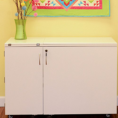 Kangaroo Kabinets Wallaby II Cabinet In Ash White by Arrow Sewing Cabinet