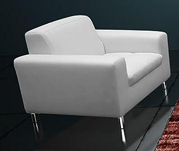Imola Sessel Einzelsessel Einzelsofa Sofa Kunstleder Weiss Amazon De