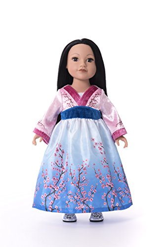 Asian Play Dolls (Little Adventures Matching Princess Dress Up Costume for Dolls (Multiple Princess Styles Available) (Asian Princess))