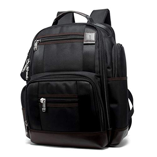 MEI Business Briefcase Multi-Pocket Backpack Men's Business Waterproof Large-Capacity Multi-Function Bag Student Bag, 15.6-inch Laptop Bag for Short Trips (Color : Black, Size : - Exclusive Briefcase Compartment Expandable Multi
