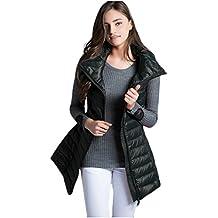 Elezay Women's Winter Light Weight Down Vest Zip Pocket