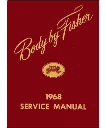 (1968 Buick Cadillac Chevrolet Body Shop Service Repair Manual Book Engine)