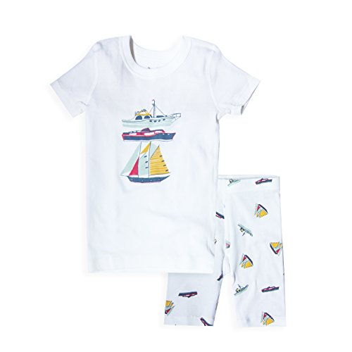 Boy's Short Sleeve Boat Print Pajama Set –