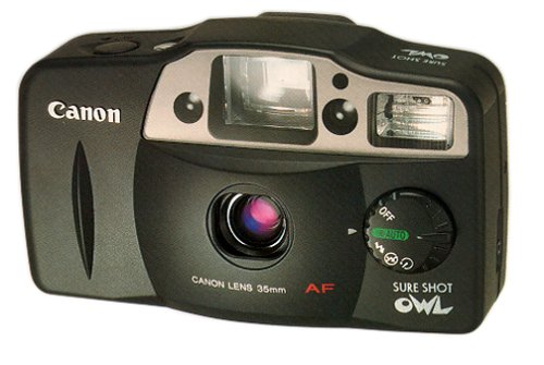Canon Sure Shot Owl - Point & Shoot camera - 35mm - lens: 35 mm - black