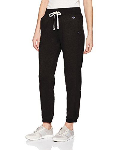 Champion Women's Heritage French Terry 7/8 Jogger, Black, Medium