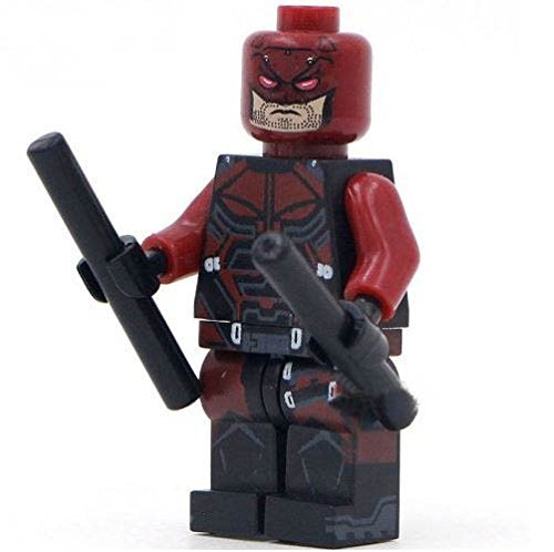 DareDevil SuperHeroes DIY Building Blocks Sword Minifigure, (Marvel Heroes Daredevil Costumes)