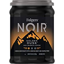 Folgers Noir Golden Dusk Medium Dark Roast Coffee, 10.3 Ounces (Pack of 6)