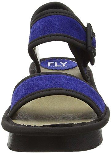 FLY London KISH603FLY - Sandalias con cuña Mujer Azul / Negro