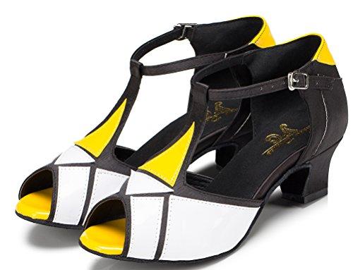 CFP - Zapatillas de danza de poliuretano para mujer Marrón café v4LQIOefVL