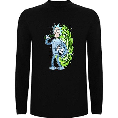 45dd98bc8 El servicio durable The Fan Tee Camiseta Manga Larga de Niños Rick and  Morty Divertida Friky