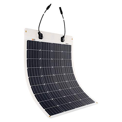 Richsolar 80 Watt 12 Volt Extremely EFTE Flexible Monocrystalline Solar Panel Ultra Lightweight (80 Solar Panel)