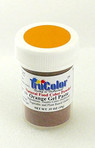 TruColor Natural Gel Paste Powder (Lg. Jar) Orange Gel Paste