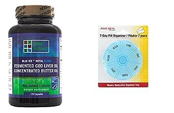 Verde pasto azul hielo real mantequilla aceite/fermentado hígado de bacalao mezcla de aceite-