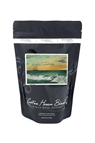 Bean Casco Bay - Casco Bay, Maine - Sunrise View of a Ship in the Bay (8oz Whole Bean Small Batch Artisan Coffee - Bold & Strong Medium Dark Roast w/Artwork)