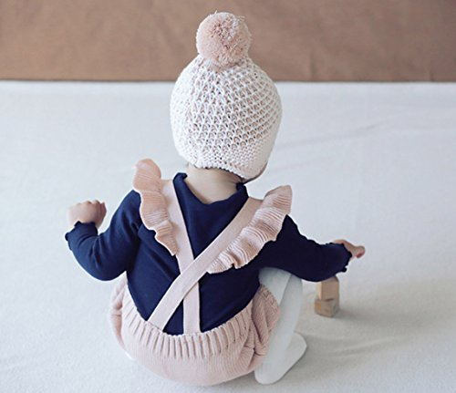 Chulianyouhuo Baby Girls Knitted Ruffle Cute Romper Cross Bandage Jumpsuit Bodysuit by Chulianyouhuo (Image #2)