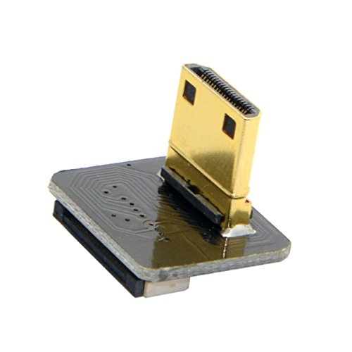 CYFPV 90 Degree Up Angled Mini HDMI Type C Male Connector for FPV HDTV Multicopter Aerial Photography