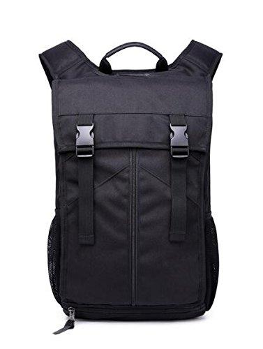 Cuatro nuevos Oxford mochila de tela exterior masculino Mochila multifuncional negro