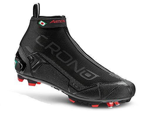 CRONO CW Winter Herren MTB Fahrradschuhe Thermo schwarz wasserdicht MTB-Schuh warm