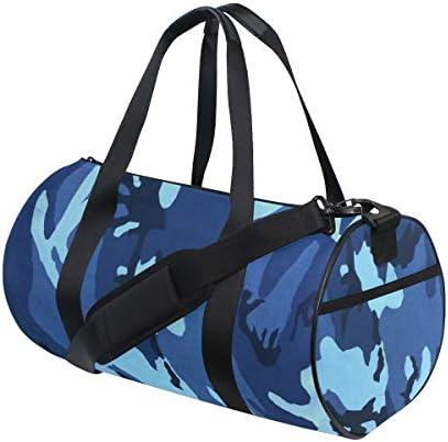 ボストンバッグ ブルーカモフラージュ ジムバッグ ガーメントバッグ メンズ 大容量 防水 バッグ ビジネス コンパクト スーツバッグ ダッフルバッグ 出張 旅行 キャリーオンバッグ 2WAY 男女兼用