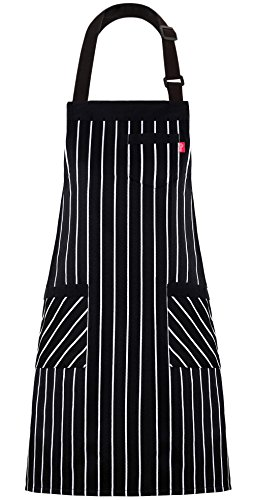 omen and Men, Kitchen Chef Apron with 3 Pockets and 40