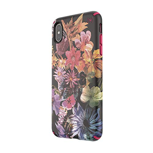 Awesome Speck Products Presidio Inked iPhone Xs Max Case, DigitalFloral/Cerise Red