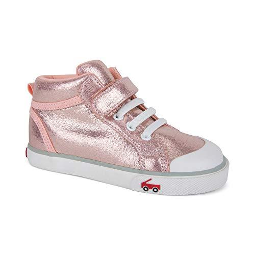 See Kai Run Girl's Peyton Sneaker, Rose Shimmer, 11 M US Little Kid