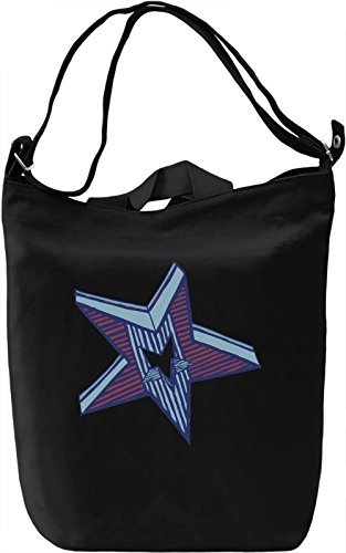 Star Borsa Giornaliera Canvas Canvas Day Bag| 100% Premium Cotton Canvas| DTG Printing|