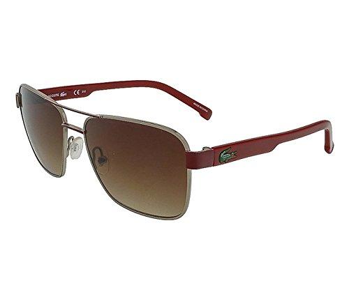 Aviator Khaki (Lacoste L3105S 317 Khaki-Red Aviator Sunglasses)