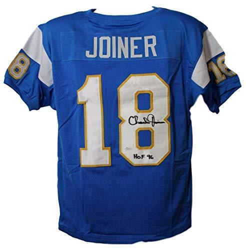 Signed Charlie Joiner Jersey - Blue XL HOF 11864 - JSA Certified - Autographed NFL Jerseys