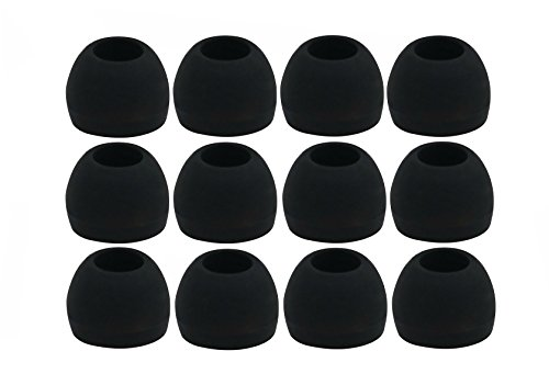 12pcs (ALL-B) Medium (M) Replacement Ear Adapters Earbuds Ear Tips Set for Sennheiser IE Series, CX Series, CXC Series…